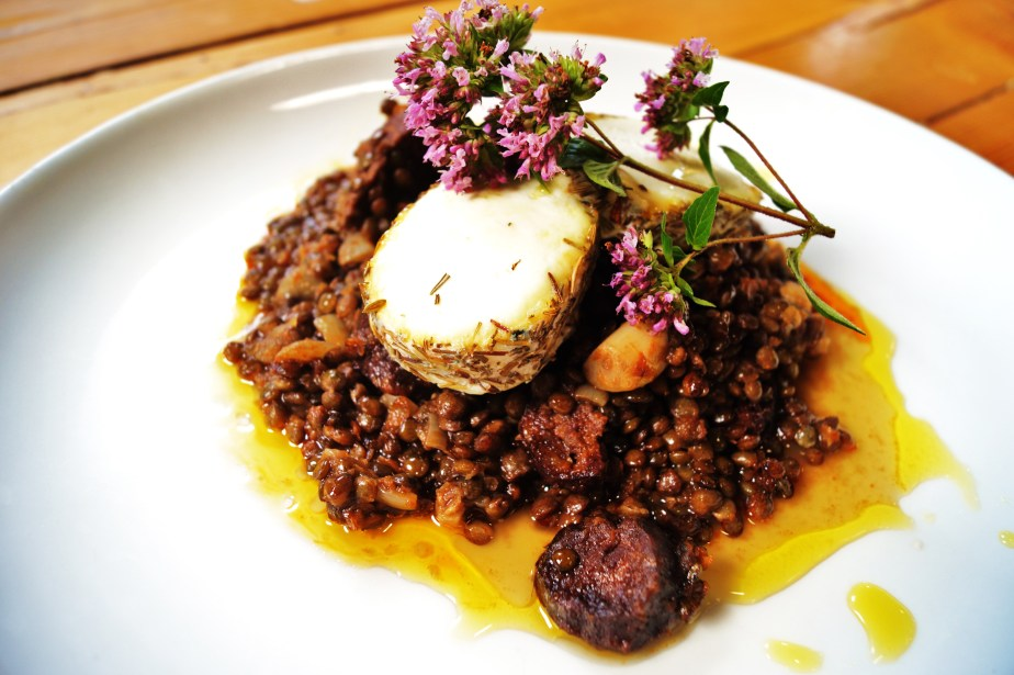 Chorizo Lentils and Triskell