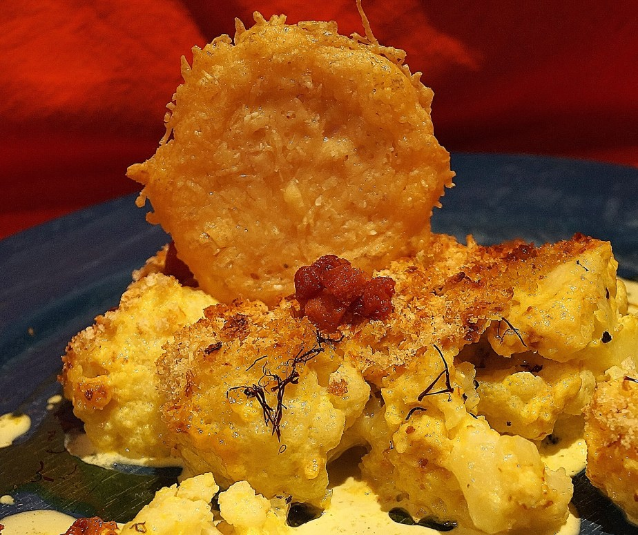 Cauliflower and saffron gratin