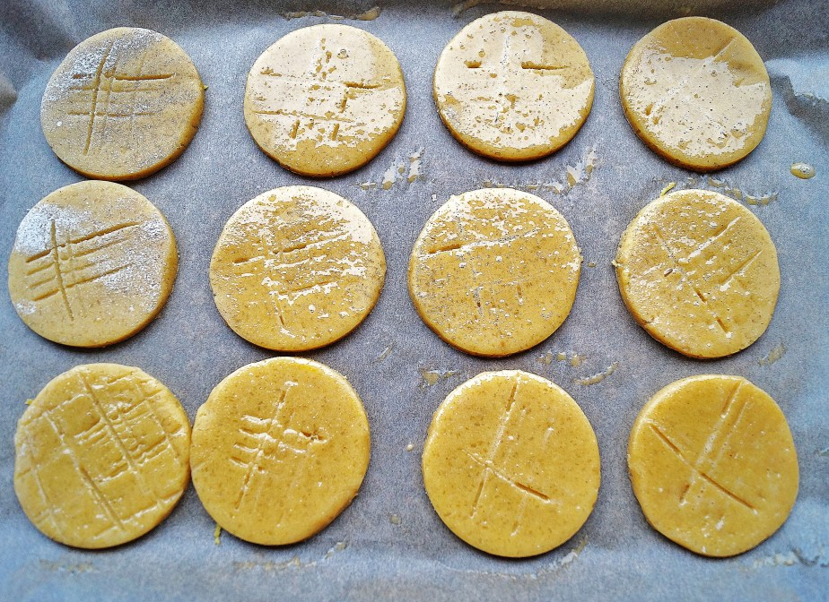 Egg washed biscuits to be