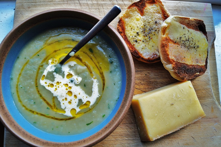 Serve with your favourite cheese toastie, a bit of good Irish fresh cream, and a drizzle of Camelina oil.