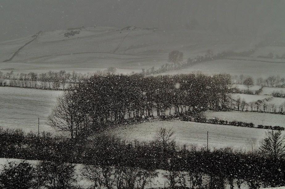 Snow shower in Ireland