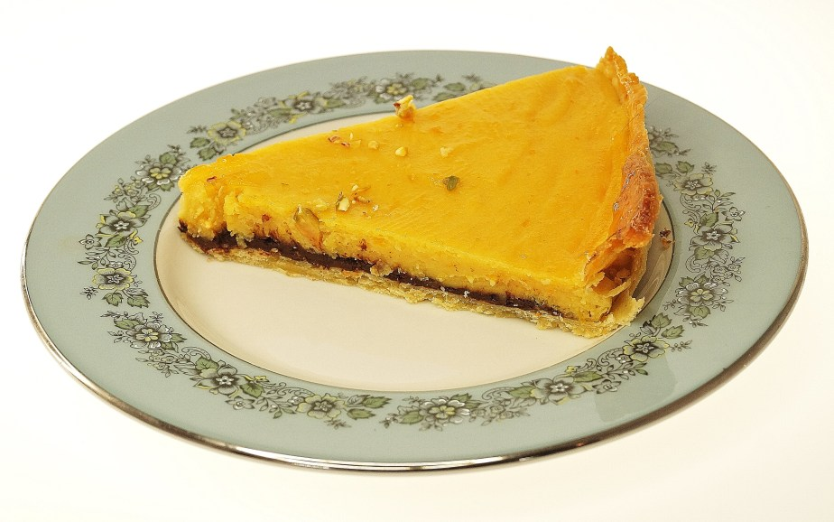 Orange and chocolate tart...