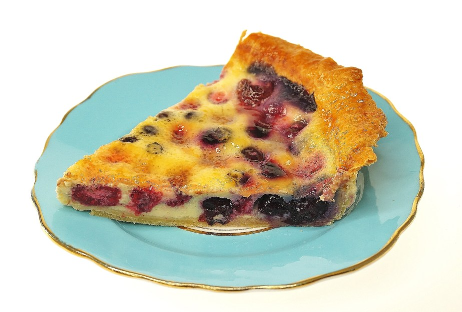 Raspberries and Blueberries tart