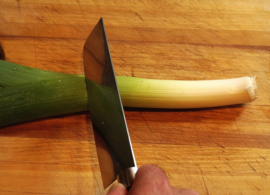 Cutting the leeks