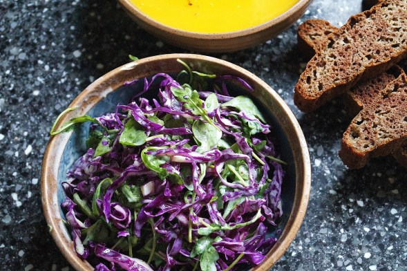 Red Cabbage and Rocket