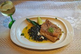 Buckwheat floured Cod with Meuniere sauce...