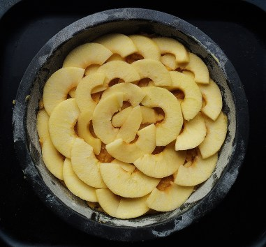 Lay the apple slices...