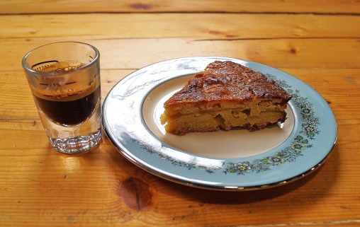 Apple Breton Cake with Espresso Coffee...