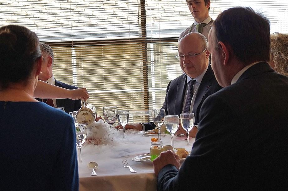 Nitrogen with Tarte Tatin... As you do. The Ambassador was impressed!
